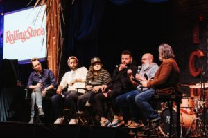 Wyatt Cenac (The Daily Show, Wyatt Cenac's Problem Areas), Jordan Klepper (The Daily Show, The Opposition), Sabrina Jalees (The Comedy Lineup), Mo Amer (The Vagabond, Late Show with Stephen Colbert) and David Cross (Arrested Development, Mr. Show) at NY Comedy Festival panel 2018