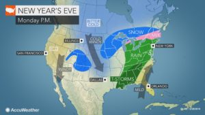 Mild air to remain entrenched as heavy rain overtakes eastern US New Y...