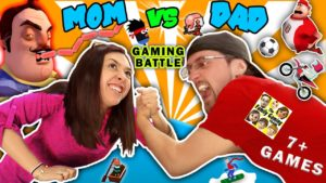 FGTEEV MOM vs DAD GAMING CHALLENGE!  Hello Neighbor Sausage Eater? 7+ iOS App Games Parents Battle