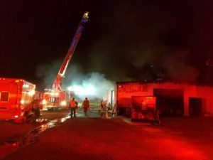 First responders on scene of fire at St. Martin Parish business