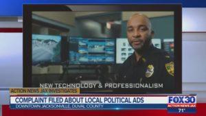 Jacksonville pastor files complaint over political ads featuring unifo...