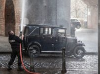 Sean Bean's World On Fire film crew came to Manchester to shoot rainy ...