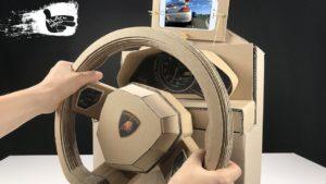 How to Make lamborghini Gaming Steering Wheel from Cardboard