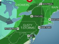 Showers, gusty thunderstorms to sweep across northeastern US on Friday