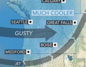 Rain, snow showers and cooler air to sweep across northwestern US thro...