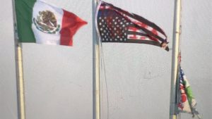 Protesters Remove U.S. Flag, Replace It With Mexican Flag Outside ICE ...