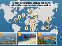 The holiday destinations around the world which have no coronavirus ca...