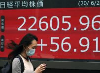 Global shares mostly lower as coronavirus cases surge