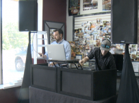Local entertainment company, DJ find new ways to provide music to part...