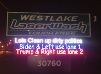 'Clean up dirty politics': Westlake car wash has fun with upcomi...
