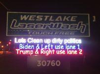 'Clean up dirty politics': Westlake car wash has fun with upcomi...