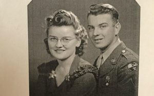 Curtis Flach wrote a book about his experiences in World War II. Flach's wife, Lucile, also has chapters in the book.   (Photo:  Courtesy of Scott Flach)