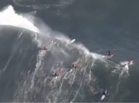 World's Most Talented Surfers Ride 'Out Of Control Huge' Monster Waves...